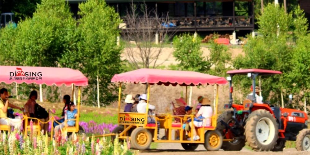 农业观光园-拖拉机小火车