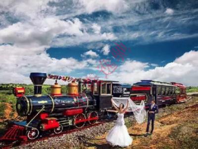 婚纱公司签约花博汇的轨道观光小火车为婚纱场景,为什么呢?