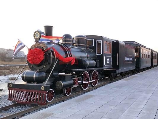 120座封闭燃油轨道观光小火车 型号:DST-G7-D120A