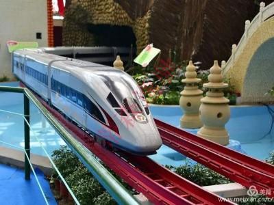 骑跨网红小火车这款网红观光小高铁车型火了