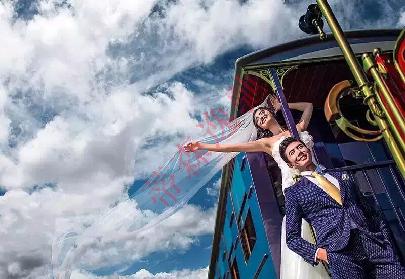 婚纱摄影小火车